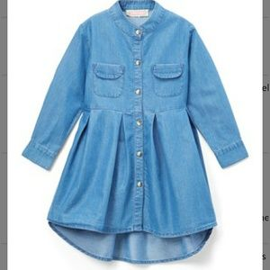 Other - Youth Girl Long Sleeve Jean Dress